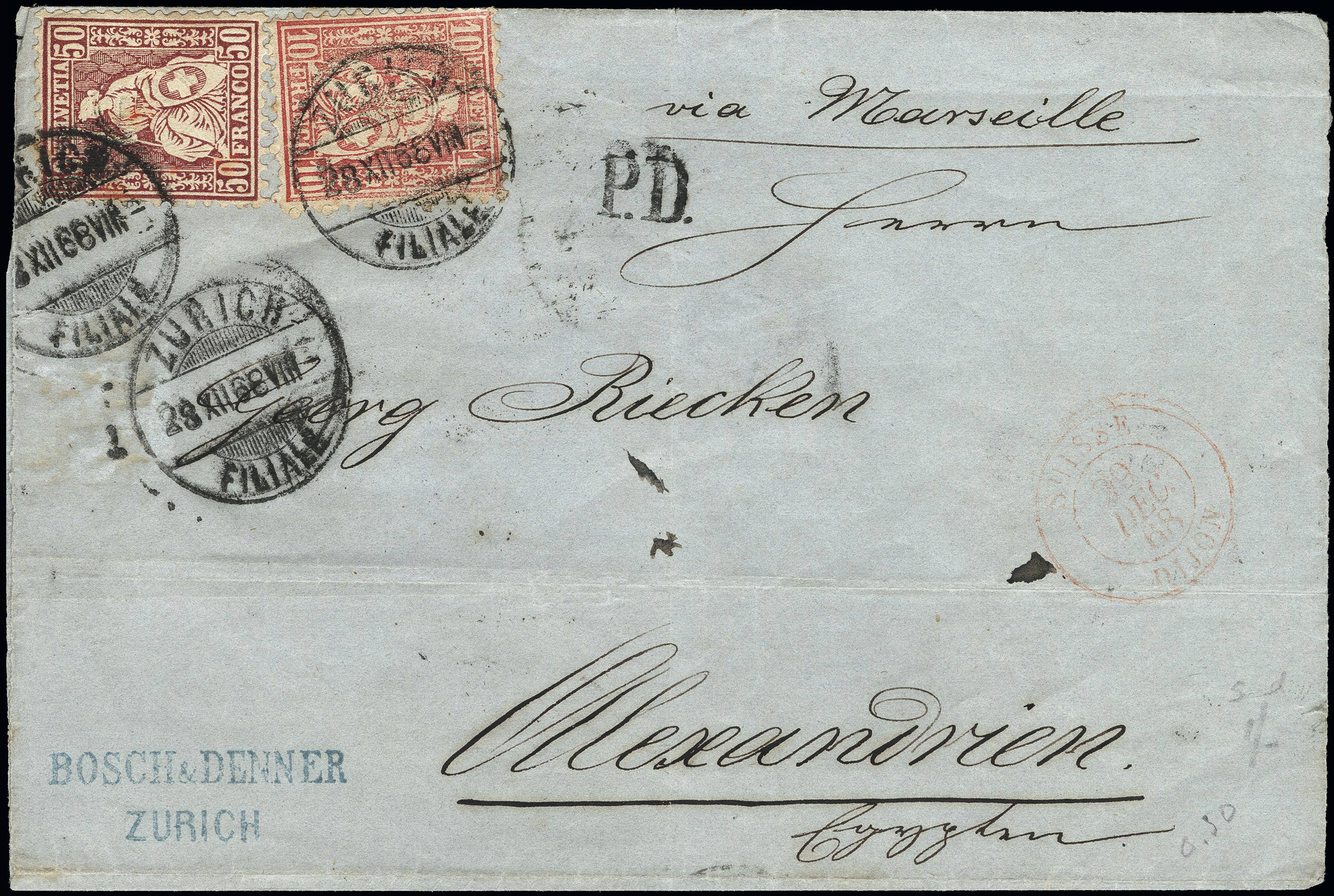 Lot 1026 - Switzerland swiss federal post -  Heinrich Koehler Auktionen Heinrich Köhler Auction 376 - Day 1