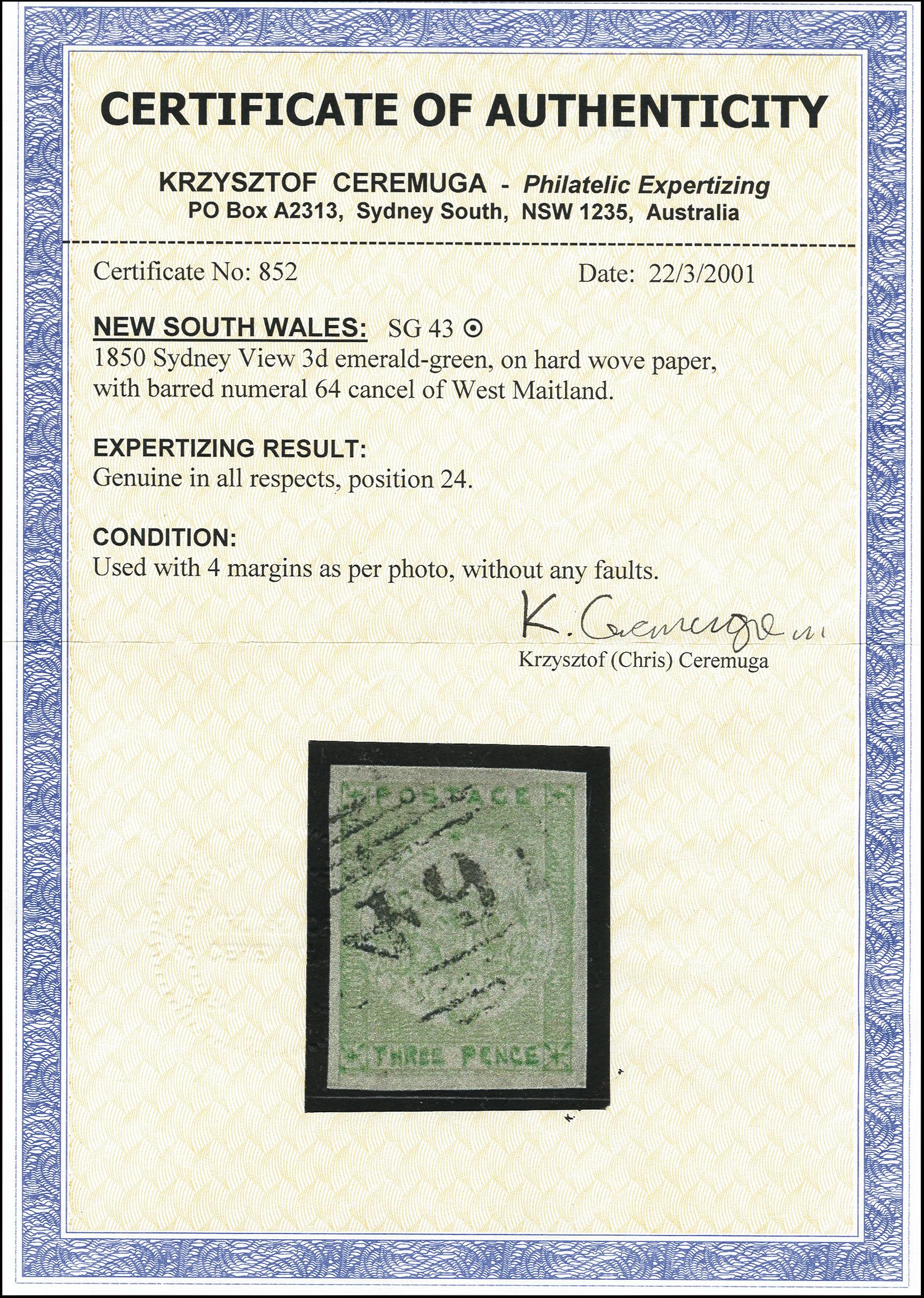 Lot 1214 - Australia New South Wales -  Heinrich Koehler Auktionen Heinrich Köhler Auction 377 - Day 1