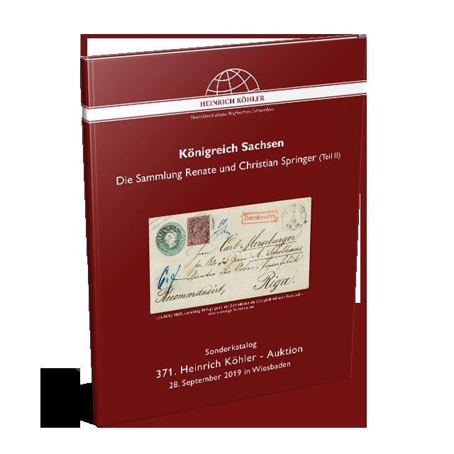 371 Auktion - Sonderkatalog Sachsen