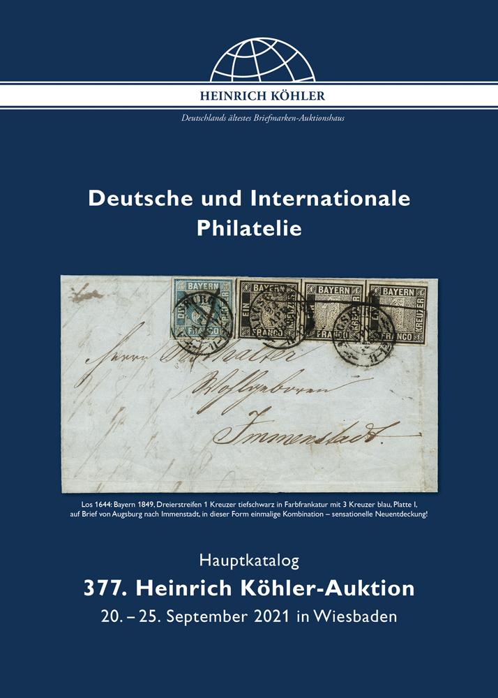 377. Heinrich Köhler Auktion