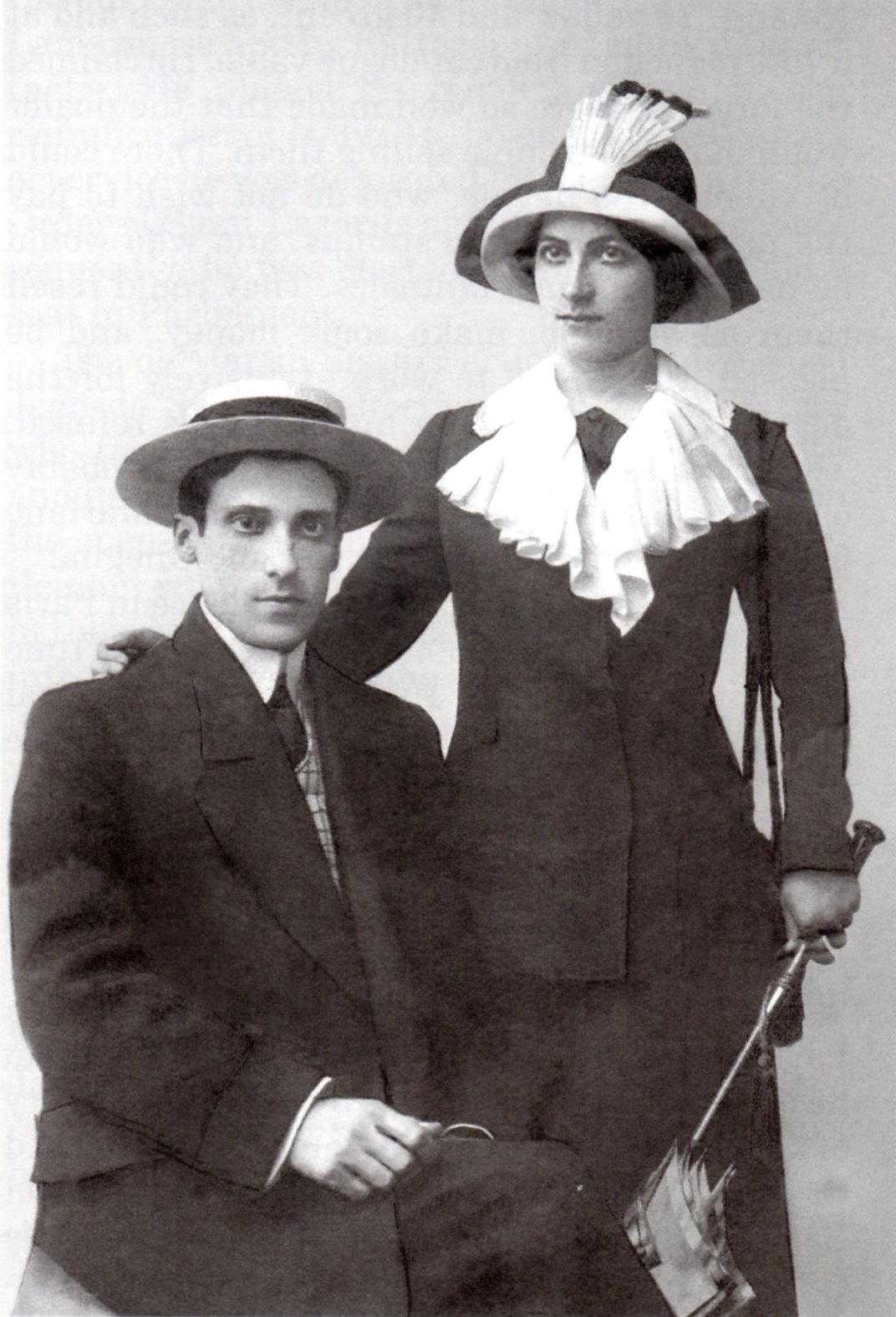 Jean de Sperati and his wife Marie Louise Corne. The photo was taken on the occasion of their wedding in Paris in 1914. From: https://en.wikipedia.org/wiki/Jean_de_Sperati